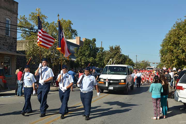 The Founders parade marches through downtown Kyle